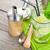 vers · mojito · cocktail · bar · houten · tafel - stockfoto © karandaev