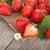 vers · aardbeien · mand · blad · Rood · aardbei - stockfoto © karandaev