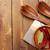 jegyzettömb · konyha · törölköző · fa · asztal · copy · space · étel - stock fotó © karandaev