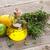 olive oil and fresh garden herbs stock photo © karandaev