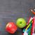 school supplies on blackboard background stock photo © karandaev