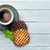 karamel · hout · tarwe · houten · tabel · ontbijt - stockfoto © karandaev