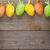 ovos · de · páscoa · flor · mesa · de · madeira · comida · feliz - foto stock © karandaev