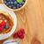 パンケーキ · ラズベリー · ブルーベリー · 木製のテーブル · コピースペース · 食品 - ストックフォト © karandaev