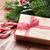 christmas gift candy cane and tree branch stock photo © karandaev