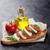 ensalada · caprese · mozzarella · tomates · albahaca · queso · hierba - foto stock © karandaev