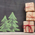 christmas gift boxes and hand drawn fir tree stock photo © karandaev