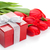 fresh red tulips with gift box stock photo © karandaev
