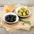итальянской · кухни · закуска · оливками · хлеб · оливкового · масла - Сток-фото © karandaev