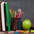 alma · gyümölcs · osztályterem · asztal · iskolatábla · kilátás - stock fotó © karandaev