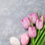 fresh pink tulip flowers and easter eggs stock photo © karandaev