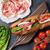 sanduíche · cozinhar · ingredientes · pedra · topo · ver - foto stock © karandaev