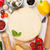 taze · pizza · ahşap · İtalyan · peynir · salam - stok fotoğraf © karandaev