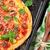 pizza · domates · mozzarella · fesleğen · ev · yapımı · üst - stok fotoğraf © karandaev
