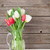renkli · buket · çiçekler · beyaz · sürahi · turkuaz - stok fotoğraf © karandaev