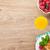 desayuno · muesli · bayas · jugo · de · naranja · mesa · de · madera · madera - foto stock © karandaev