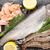 新鮮な · 生 · 海 · 食品 · スパイス · 木製のテーブル - ストックフォト © karandaev