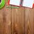 jegyzettömb · irodaszerek · zöld · kávéscsésze · fa · asztal · fölött - stock fotó © karandaev