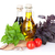 fresh garden basil tomatoes and condiments stock photo © karandaev