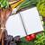 fresh garden herbs and notepad stock photo © karandaev