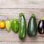 frescos · jardín · hortalizas · colorido · mesa · de · madera - foto stock © karandaev