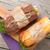 iki · sandviçler · salata · jambon · peynir · domates - stok fotoğraf © karandaev