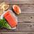 sanduíche · salmão · brinde · cozinhar · topo - foto stock © karandaev