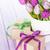 purple tulip bouquet and gift boxes stock photo © karandaev