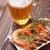 beer mug and grilled shrimps stock photo © karandaev