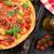 házi · készítésű · pizza · paradicsomok · mozzarella · finom · bazsalikom - stock fotó © karandaev