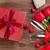 mooie · rozen · geschenkdoos · harten · romantische · geschenk - stockfoto © karandaev