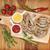 alla · griglia · salsicce · ketchup · senape · tavolo · in · legno · sfondo - foto d'archivio © karandaev