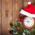 Noel · ahşap · saat · kar · bo - stok fotoğraf © karandaev