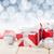 Weihnachten · rot · Schnee · bokeh · Kopie · Raum - stock foto © karandaev