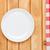 üres · tányér · konyha · törölköző · felső · kilátás - stock fotó © karandaev