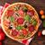 mini · vermelho · queijo · pizza · fundo - foto stock © karandaev