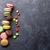 colorful macaroons and candies sweet macarons stock photo © karandaev