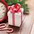 Christmas alarm clock, gift box and fir tree branch stock photo © karandaev