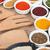 specerijen · houten · tafel · groep · Rood · kleur - stockfoto © karandaev