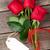 valentines day red roses over wood stock photo © karandaev