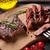 grillezett · vesepecsenye · bors · mártás · étel · étterem - stock fotó © karandaev