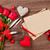 romantikus · rózsák · papír · szívek · csendélet · rózsaszín - stock fotó © karandaev