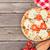 mozzarella · marul · lezzetli · domates · ahşap · masa · peynir - stok fotoğraf © karandaev