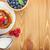 krep · ahududu · nane · yalıtılmış · beyaz · gıda - stok fotoğraf © karandaev