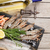 fresh raw sea food with spices and white wine stock photo © karandaev