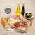rode · wijn · kaas · olijven · tomaten · prosciutto · brood - stockfoto © karandaev