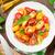 vers · kleurrijk · tomaten · basilicum · salade · houten · tafel - stockfoto © karandaev