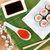 red caviar sushi set sakura branch and green tea stock photo © karandaev