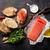 sanduíche · salmão · brinde · cozinhar · pedra · topo - foto stock © karandaev