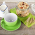 ontbijt · graan · thee · yoghurt · voedsel - stockfoto © karandaev